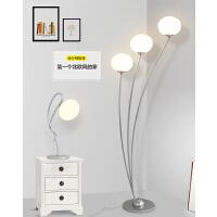 现代简约客厅卧室床头LED护眼创意个性书房沙发立式铁艺落地灯n7x