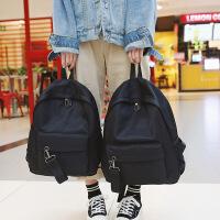 书包女中学生韩版校园潮原宿ulzzang百搭双肩包简约纯色旅行背包