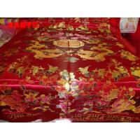 婚庆被面 七彩杭州丝绸织锦缎 被面子 老式被面