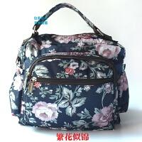 7女包手提包单肩包多用防水花布包包休闲手拎斜挎包妈咪包秋806