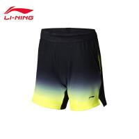 李宁羽毛球比赛裤女士抗静电抗菌女装吸汗透气适运动裤AAPN006