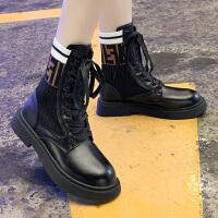马丁靴 女士网红复古ins厚底高帮机车短靴2020秋冬季新款韩版时尚女式休闲百搭气质女鞋子