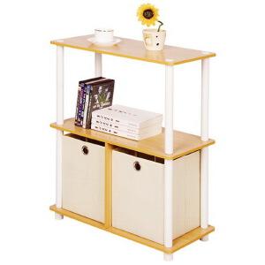 [当当自营]慧乐家 乐其三层带抽置物架99152 木纹色 简易收纳柜 斗柜