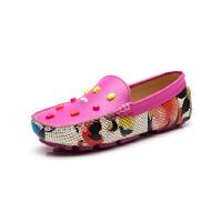 比比我新品新款品童鞋春秋新款女童豆豆鞋女时尚皮鞋