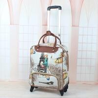 手提拉杆包旅行包男女pu行李包防水大容量万向轮铝合金拉杆旅游包