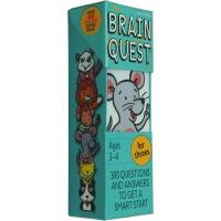 英文原版 Brain Quest for Threes,智力开发卡片书 [3-4岁]