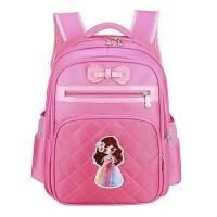 女童小孩一年级书包小学生女书包 6-2周岁女孩-3-4-5双肩包 小号粉色 (适合1-3年级)