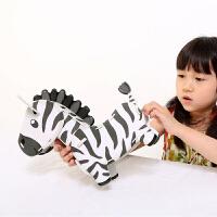 乐立方3D立体拼图 动物模型儿童手工制作纸质DIY早教积木玩具