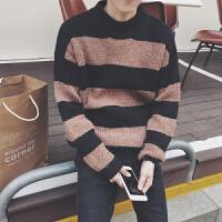 冬季毛衣男韩版潮流个性圆领针织衫男士线衣修身宽松毛衫线衫