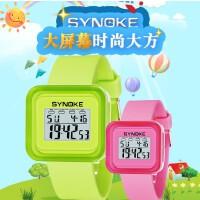 时诺刻 儿童电子手表 儿童运动电子手表 时尚果冻表夜光 生活防水功能