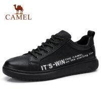 camel 骆驼男鞋 秋季新款真皮皮鞋男韩版潮流休闲鞋英伦板鞋子男士