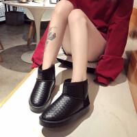 网红短筒雪地靴女一脚蹬防水厚底冬学生可爱防滑加绒棉鞋