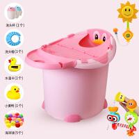 W 宝宝洗澡桶多功能可坐儿童浴桶保温加大婴儿洗澡盆小孩泡澡桶浴盆B31 +向日葵+转转乐