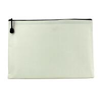 A4牛津布袋 会议资料袋 单层拉链文件袋 可承接印刷LOGO 蓝色 白色