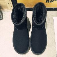 雪地靴男冬季加绒保暖防水防滑棉靴子男高帮面包鞋东北加厚棉鞋男srr