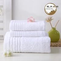 �棉毛巾浴巾三件套五星�酒店毛巾浴巾婚�c毛巾�Y盒套�b定制LOGO