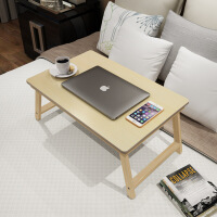 【满200减100】幽咸家居 松木 实木床上折叠电脑桌 懒人桌电脑桌 床上学习桌折叠实木电脑桌 床上餐桌 炕桌