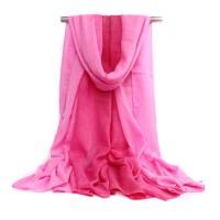 春秋长款学生棉丝巾 女麻风渐变色两用披肩围巾 冬季围巾