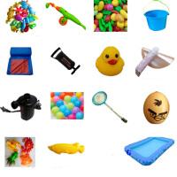 儿童钓鱼玩具池套装宝宝磁性广场摆摊小孩充气水池戏水钓鱼池家用 长方形 2.6码凳子套餐3