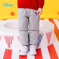 【3件2.6折到手价:52】迪士尼Disney童装 女童三层保暖夹棉长裤冬季新品米妮印花棉裤防风防寒194K849