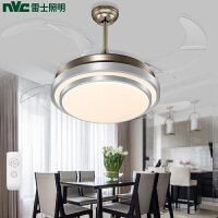 雷士简约现代餐厅吊灯风扇灯吊扇灯隐形电扇卧室饭厅客厅家用灯具