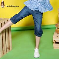 【儿童节狂欢购满200-100礼券】暇步士童装2017年夏季暇步士童装  女童纯棉时尚宽松7分裤
