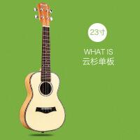 ?BWS(BWSEST1988) 毕维斯尤克里里23寸单板乌克丽丽小吉他ukulele木质学生乐 23寸桃花芯云杉单板