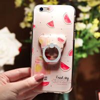 苹果6手机壳女款iphone6透明硅胶软套6Plus可爱6p个性6s支架六i6sp韩国潮牌ins网红