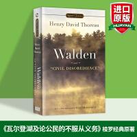 华研原版 瓦尔登湖英文版 Walden and Civil Disobedience 英文原版书 论公民的不服从义务