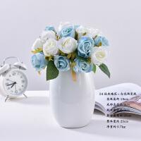 仿真花束假花玫瑰室内客厅装饰摆件餐桌手捧绢花艺轻奢塑料花