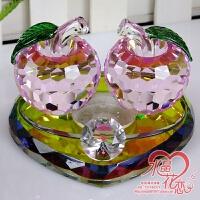 ��意水晶�O果汽�香水�[件��d�用香水座式女士��妊b�品用品SN3995 新款 粉色�O果