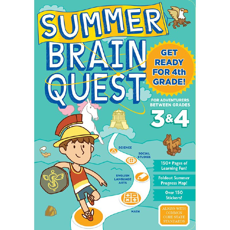 Summer Brain Quest: Between Grades 3 & 4 英文原版 Brain Quest暑假练习册:3年级-4年级