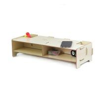 木质液晶电视电脑显示器架键盘增高置物多层格子收纳支托架