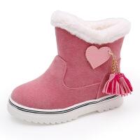 №【2019新款】冬天小朋友穿的靴子儿童雪地靴女童棉鞋新款防水短靴宝宝棉靴子