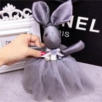 可爱蕾丝裙兔子挂件时尚汽车钥匙扣挂件女士包包挂饰潮SN0973