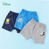 【99元3件】迪士尼(Disney)童装 男童短裤纯棉哈伦裤2020年夏季新品迪斯尼宝宝休闲裤子