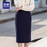 【2折预估到手价:67叠券更优惠】罗蒙女士职业裙包臀半身裙2021夏季新款一步短裙西装裙正装工作裙