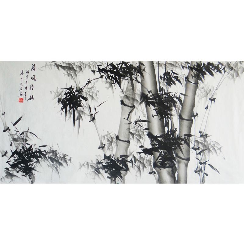水墨竹子    清风雅韵    现代画竹画家  李良志