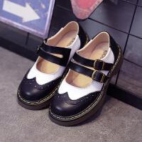 新款春秋鞋儿童皮鞋真皮女童皮鞋学生演出单鞋公主鞋子英伦风黑色SN8376