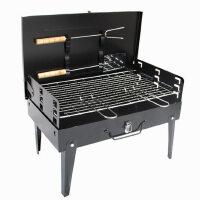 野外烧烤炉户外便携家用木炭 手提式箱烧烤架 烤肉串炭炉