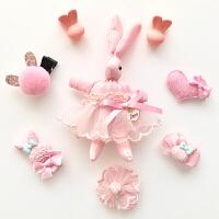 宝宝发夹儿童发饰套装礼盒组合发夹公主淑女皇冠女童发饰头饰品