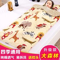 婴儿睡袋秋冬季冬款棉花女宝宝儿童大童加厚四季通用防踢被子神器