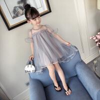 女童连衣裙夏装儿童六一表演裙夏季公主裙洋气纱裙演出裙
