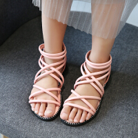 童鞋女童凉鞋镂空小女孩罗马鞋中大童儿童公主鞋
