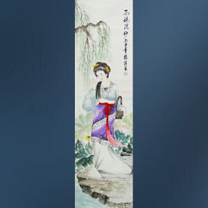 现代画家  杨丽  西施浣纱  A4