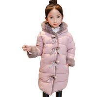 女童棉衣新冬装宝宝加绒加厚棉袄儿童中长款保暖外套冬季羽绒