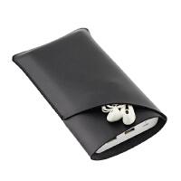 罗马仕25000毫安充电宝保护套 sense9 收纳包 袋子充电宝皮套双层 立体双层 黑色