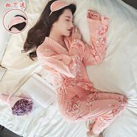日韩睡衣女秋冬季和服长袖睡袍夏天款甜美性感吊带家居服套装