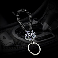 创意车钥匙包个性汽车钥匙包编制镶钻通用女款钥匙挂件车上饰品