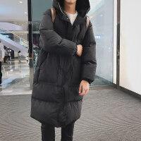 胖子连帽棉衣袄男加大码潮厚中长款外套宽松冬季工装
